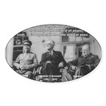 2nd World War: Stalin Roosevelt Churchill Sticker