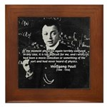 Wolfgang Pauli: Principles in Physics Framed Tile