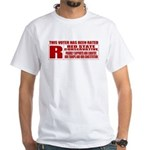 Rated R Red State Conservative White T-Shirt