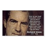Inspiration President Nixon Rectangle Sticker