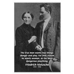 Man and Woman: Nietzsche Large Poster