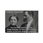 Man and Woman: Nietzsche Rectangle Magnet (10 pack