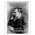 Vanity God and Nietzsche Small Poster