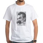 Group Insanity: Nietzsche White T-Shirt