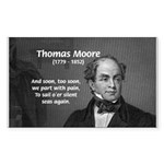 Irish Poet: Thomas Moore Rectangle Sticker