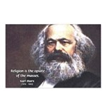 Karl Marx Religion Opiate Masses Postcards (Packag