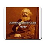 Power of Change Karl Marx Mousepad