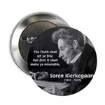 "Truth Existentialist Kierkegaard 2.25"" Button (100"