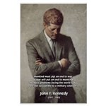Man / War John F. Kennedy Large Poster