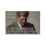 Man / War John F. Kennedy Rectangle Magnet (10 pac