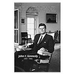 Humanist John F. Kennedy Large Poster