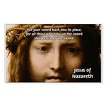 Jesus Peace and Love Rectangle Sticker