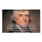 Media Thomas Jefferson Rectangle Sticker