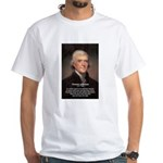 Media Thomas Jefferson White T-Shirt