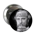 "William James Life and Change 2.25"" Button (100 pa"
