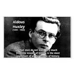 History Aldous Huxley Rectangle Sticker
