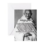 Gandhi Religion Non-violence Greeting Cards (Packa