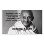 Gandhi Religion Non-violence Rectangle Sticker