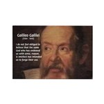 Ignorance Religion Galileo Rectangle Magnet (10 pa