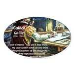 Stubborn Resistance Galileo Oval Sticker