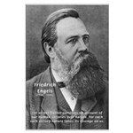 Nature versus Humanity: Engels Large Poster