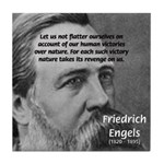 Nature versus Humanity: Engels Tile Coaster