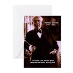 Imagination Thomas Edison Greeting Cards (Package
