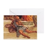 Cynic Philosophy Diogenes Greeting Cards (Package