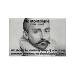 Individual Freedom Montaigne Rectangle Magnet (10