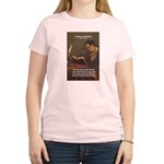 French Poets Baudelaire Women's Pink T-Shirt