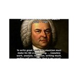 Composer J.S. Bach Rectangle Magnet (100 pack)