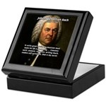 Composer J.S. Bach Keepsake Box