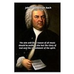 Glory God Music J. S. Bach Large Poster