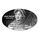 Women in History Jane Austen Oval Sticker