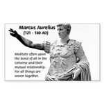 Universe: Marcus Aurelius Rectangle Sticker
