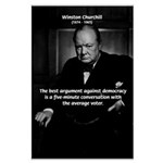 Sir Winston Churchill Large Poster