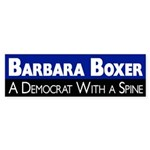 Barbara Boxer: A Democrat with Spine bumper sticker