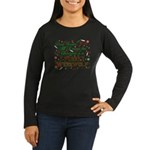 Dear Santa Furry Werewolf Women's Long Sleeve Dark