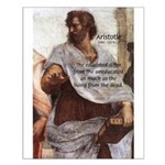 Aristotle Education Quote Small Poster