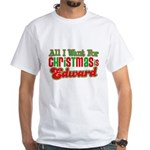 Christmas Edward White T-Shirt