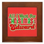 Christmas Edward Framed Tile