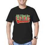 Christmas Emmett Men's Fitted T-Shirt (dark)
