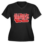 Carlisle Valentine Women's Plus Size V-Neck Dark T