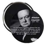 "Churchill Fear of Truth 2.25"" Magnet (100 pack)"