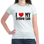 I Love My Yellow Lab Jr. Ringer T-Shirt