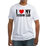 I Love My Yellow Lab Fitted T-Shirt