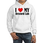I Love My Rescued Lab Hooded Sweatshirt