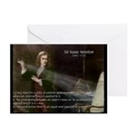 Isaac Newton Laws Motion Greeting Cards (Package o