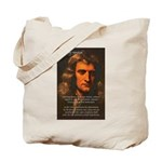 Sir Isaac Newton Space Tote Bag