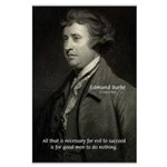 Edmund Burke: Good & Evil Large Poster